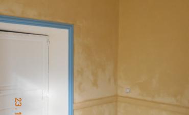 Rénovation d'un salon à la chaux